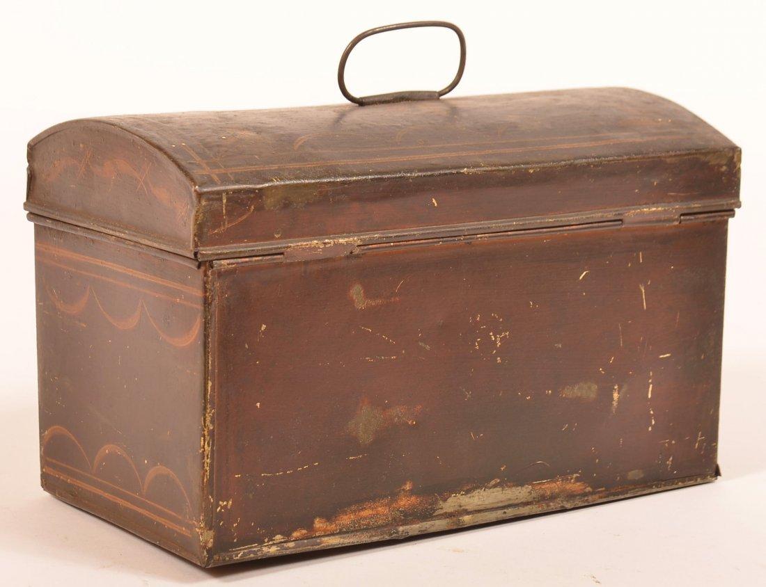 PA 19th Century Toleware Document Box. - 4