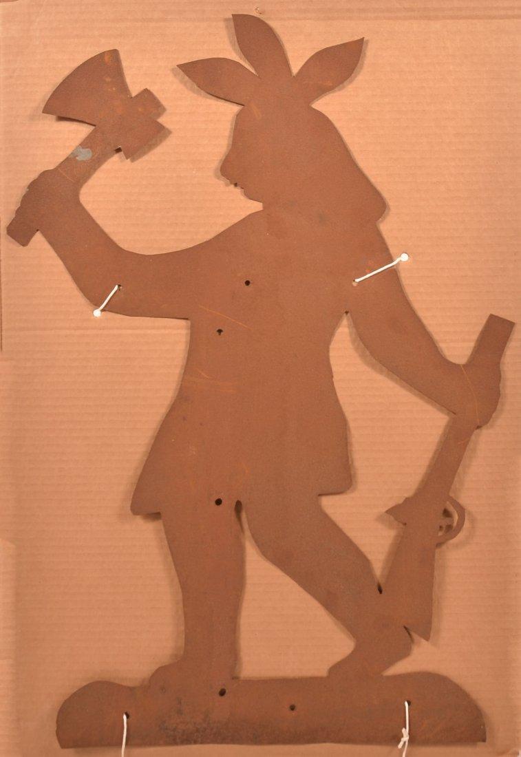 Tin Indian Silhouette Weathervane Pattern.