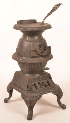 "Philadelphia ""liberty"" Cast Iron Pot Belly Stove."