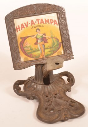 Havana Cigars Cast Iron Advertising Cigar Cutter.