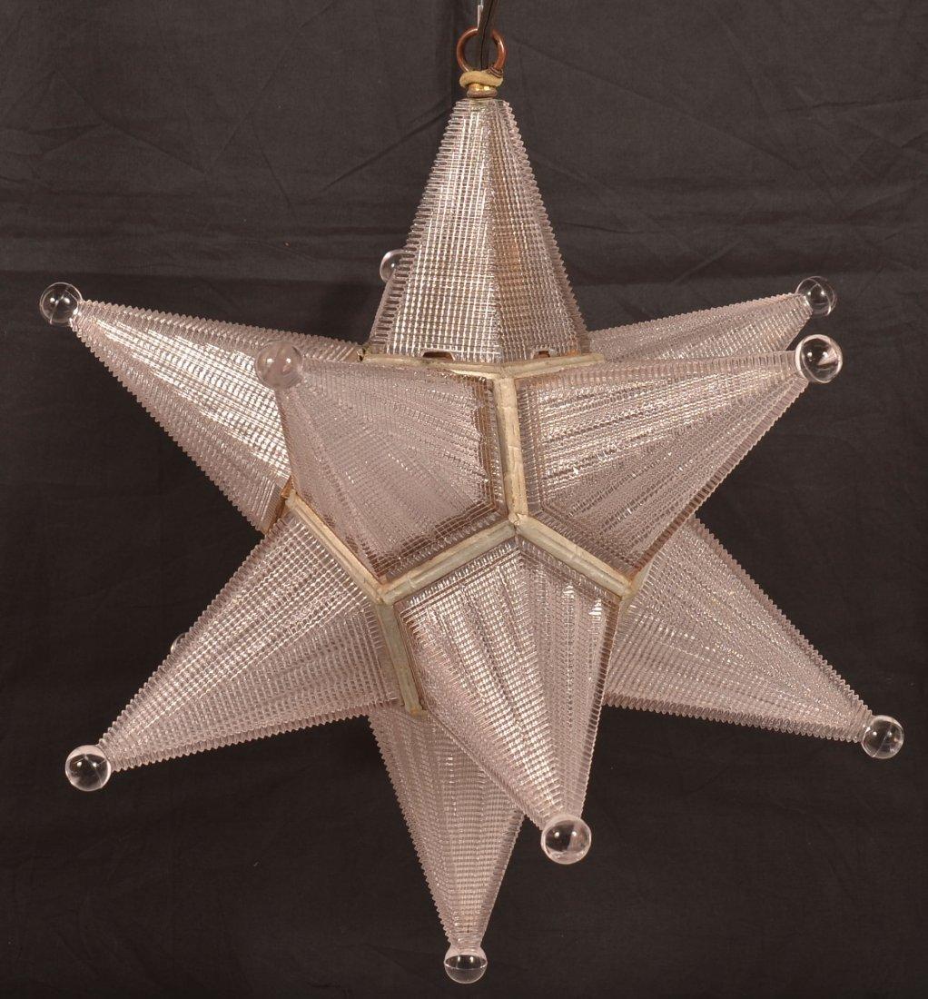 Vintage Moravian Star Hanging Light. - 2