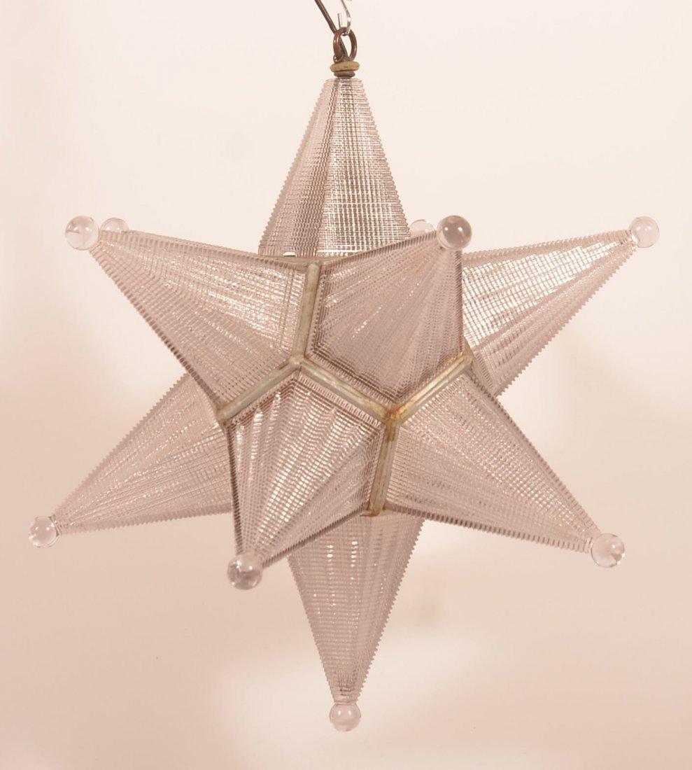 Vintage Moravian Star Hanging Light. - 4