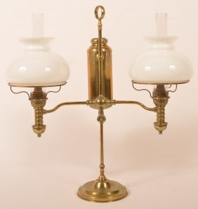 Manhattan Brass Double Arm Student Lamp.