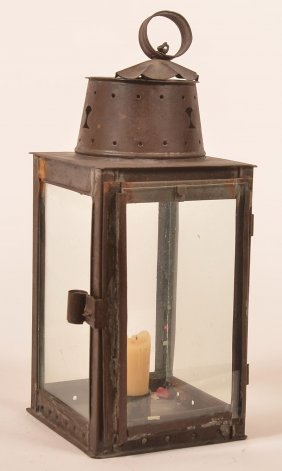 19th Century Tin Candle Lantern.