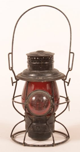 Adlake Reliable Prr Red Shade Railroad Lantern.