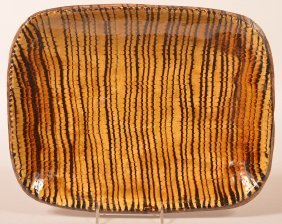 Mma Comb Slip Decorated Earthenware Platter.