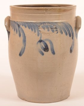 John P. Fell & Co. Two Gallon Stoneware Crock.
