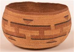 Late 19thEarly 20th Century Hupa Indian Basket