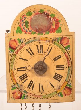 19th Century Small Wag On Wall Clock.