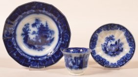 Two Pieces Of Flow Blue Ironstone China.