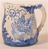 Dedham Pottery Night and Morning Pitcher.