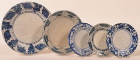 5 Various Dedham Pottery Crackle Ware Plates.