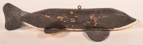 Vintage Chippewa Indian Sturgeon Fish Decoy.