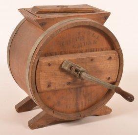 Antique Wood Butter Churn.