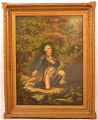 E.S. Reeser Oil on Canvas of George Washington.