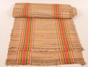 Pa 19th Century Colorful Rag Carpet Runner.