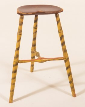 Walter Steeley Reproduction Windsor Stool.