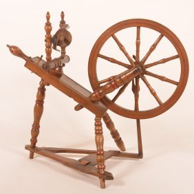 Small 19th Century European Spinning Wheel.
