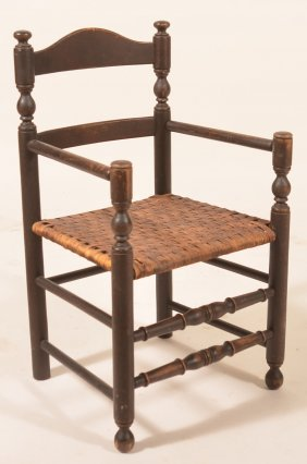 Early 19th Century Child's Ladder-back Armchair.