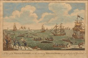 18th Century Hand Colored Maritime Engraving.