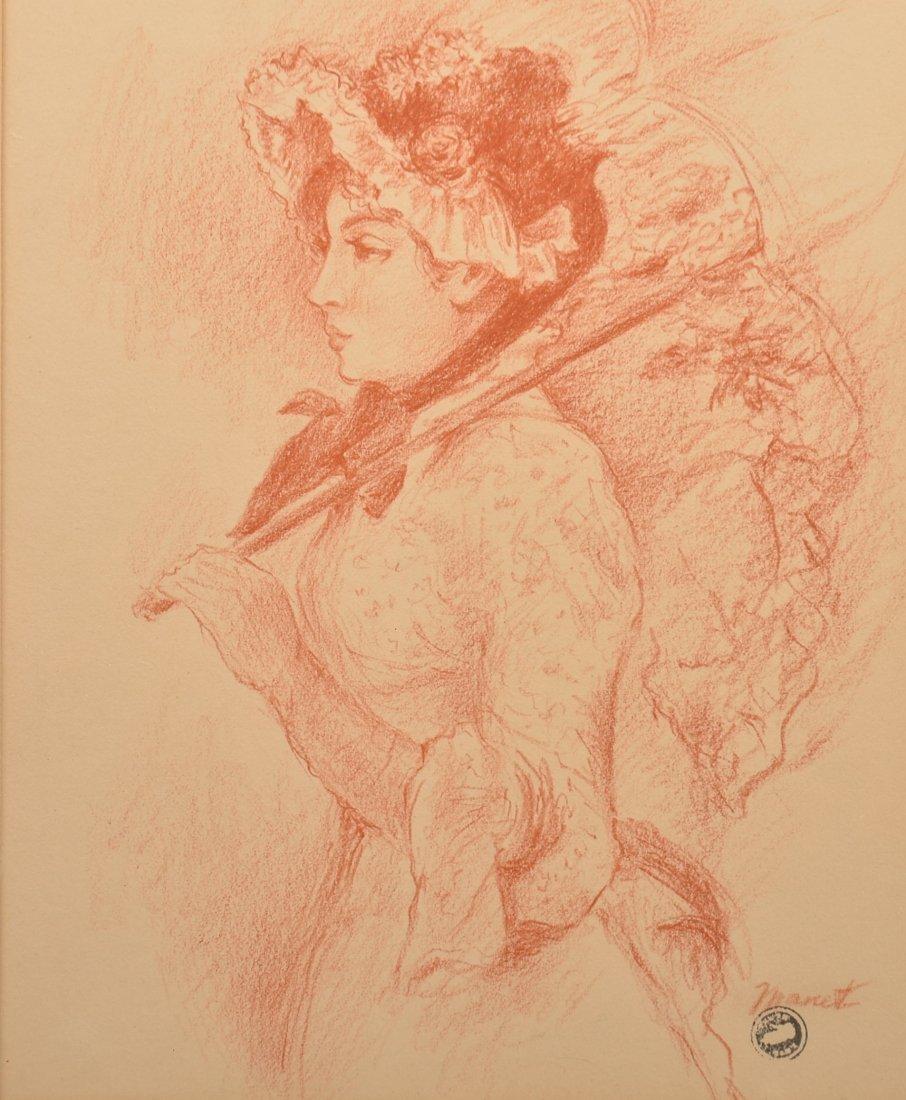 "Édouard Manet Aquatint Titled ""Spring""."