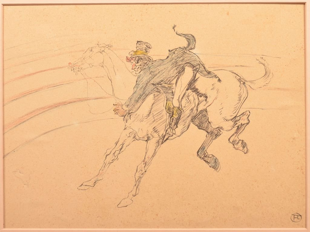 Toulouse-Lautrec Circus Clown Lithograph.