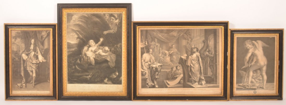 Four Various 18th Century Prints.