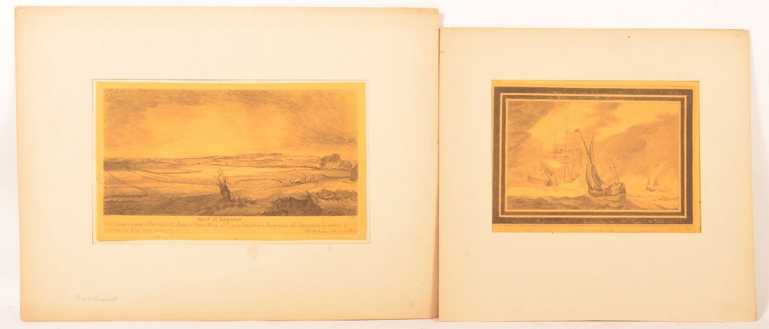 Two After Rembrandt, W. Baillie Etchings.