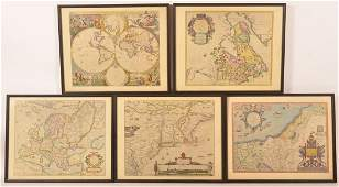 5 Copies of Early Maps by Penn Prints New York