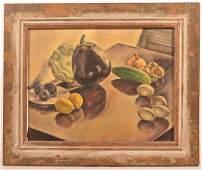 Miriam Tindall Smith 1934 Still Life Painting.