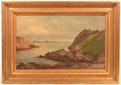 JB Sword Oil on Canvas Seascape Painting