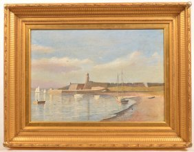 W. Staples Drown Oil Painting Of Fort San Marco.