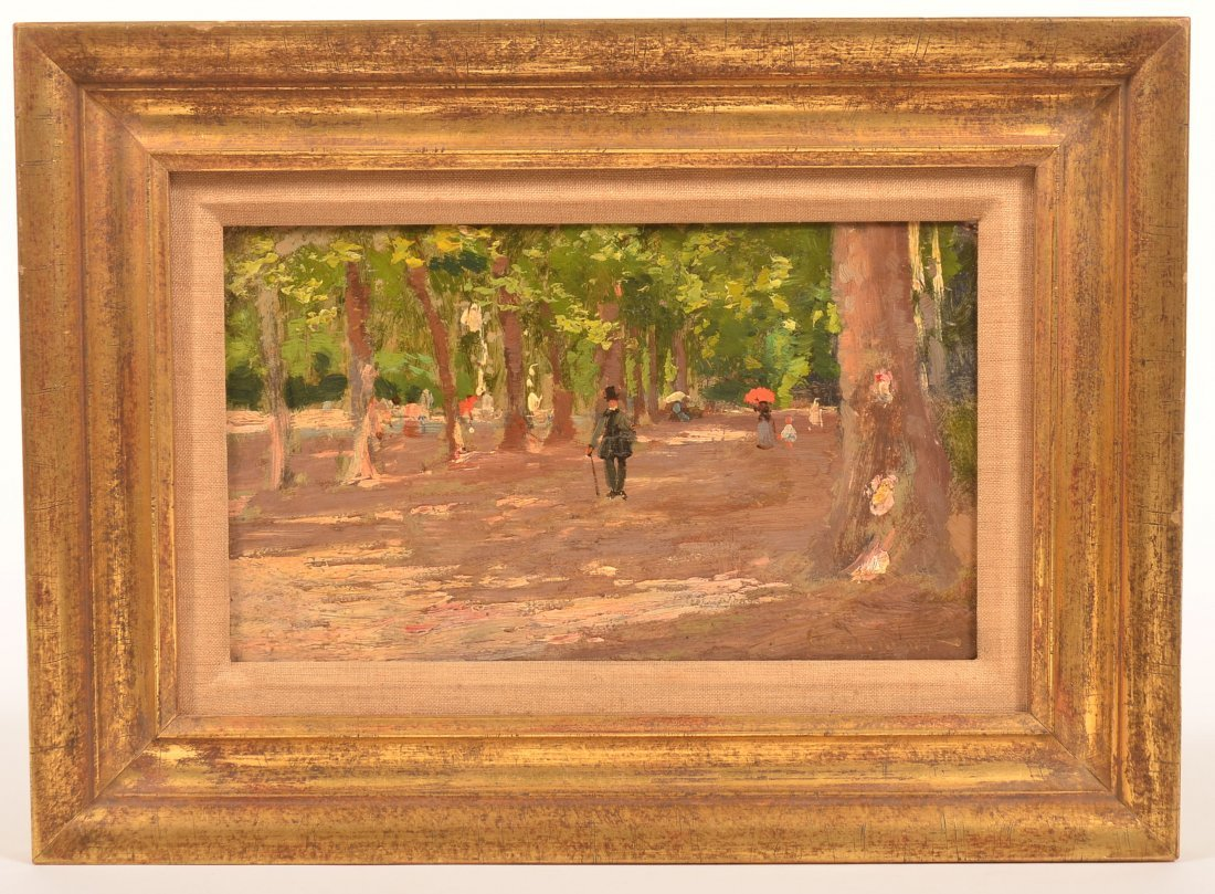 Claude Monet Oil on Board Painting.