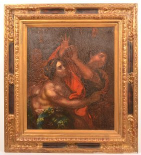 After Carlo Cignani 18th Century Painting On Tin.