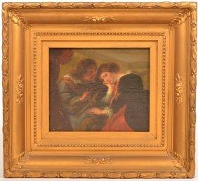 Spanish 18th Century Oil on Canvas Painting.