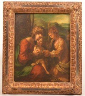18th/19th Century Italian Oil On Board Painting.