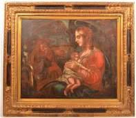 Madonna Nursing the Christ Child Painting