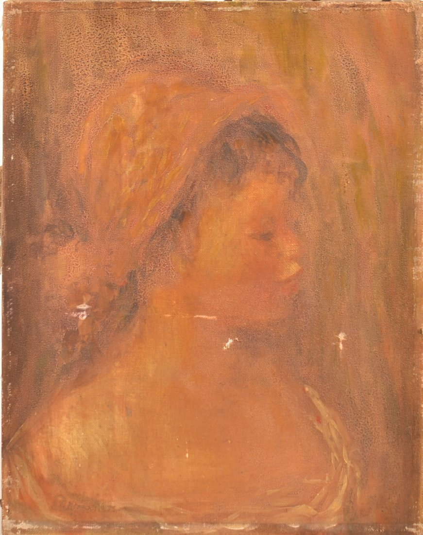 Renoir Oil Portrait Painting of Jean Renoir.