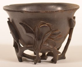 18th Century Ox Horn Libation Cup.
