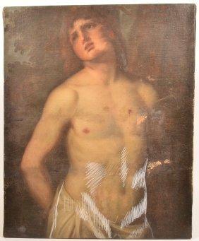 18th Cent. Painting Depicting Saint Sebastian.