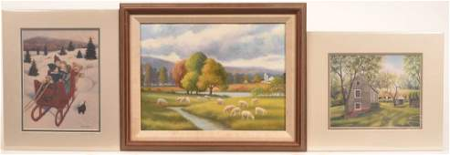Oil on Artist Board Painting Signed Susan Doll.