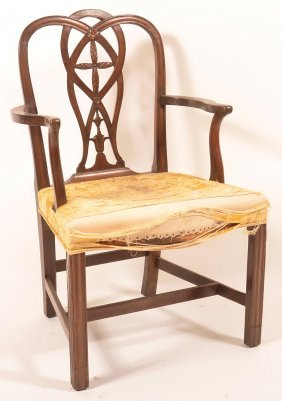Chippendale Style Mahogany Armchair.
