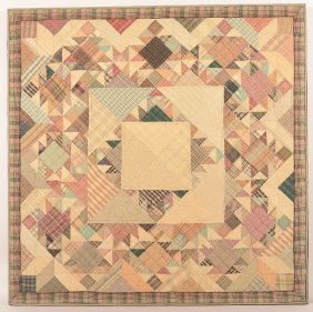 Geometric Pattern Crib Quilt.