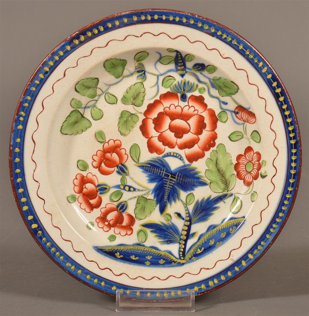 Gaudy Dutch China Carnation Pattern Plate.