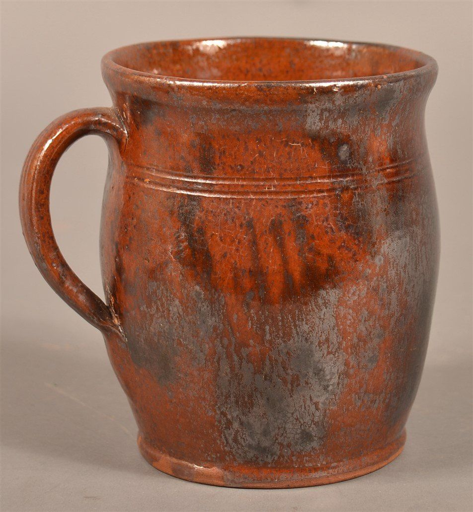 Pennsylvania Redware Apple butter Crock.