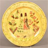 Breininger Redware Pottery Marriage Charger