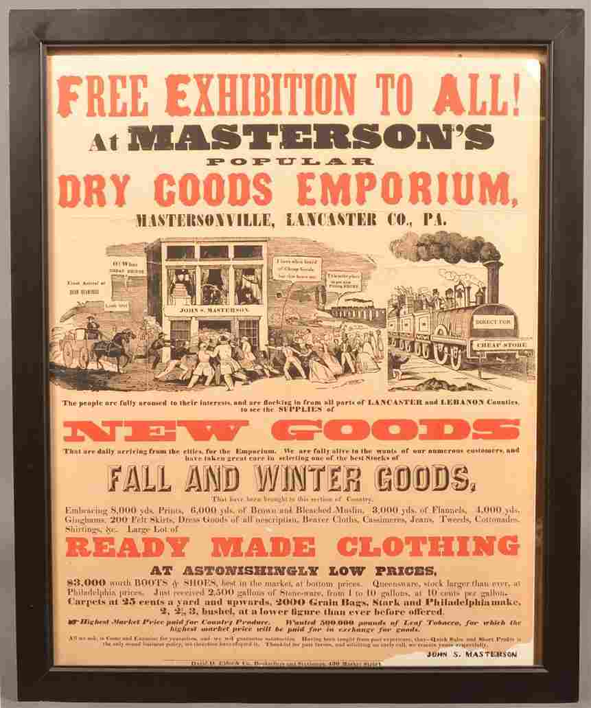 Printed Broadside Titled Fire Exhibition To All!.