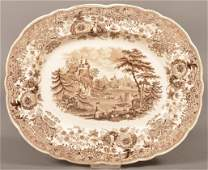 "Staffordshire China ""Tyrolean"" Pattern Platter."