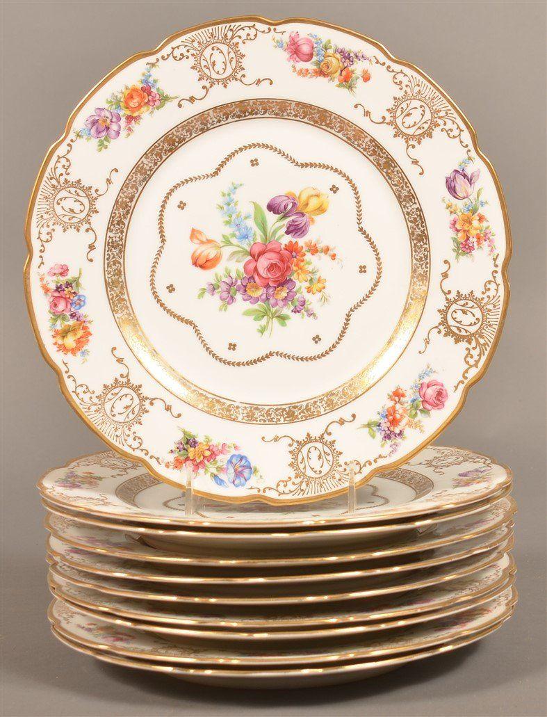 Ten Schumann Bavaria Dinner Plates.