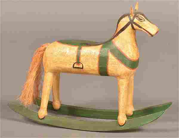 Walter Gotshall Folk Art Rocking Horse Toy.